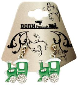 Born Rail Products Enameled Train Earrings