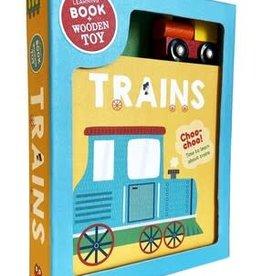 Studio Fun International Trains: Book & Wooden Toy Set
