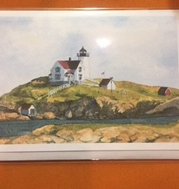 Bella Terra Maps Cape Neddick Nubble Lighthouse Note Card