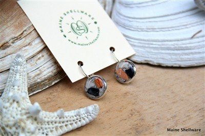 Maine Shellware Maine Shellware Lever Back Earrings