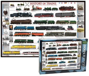 History of Trains Puzzle 1000 Pieces