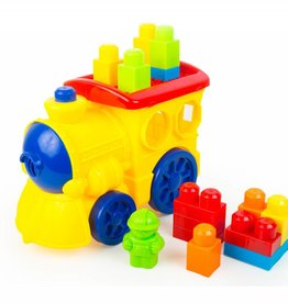 3T Rail Products Lil Engine Plastic Block Train - Discontinued