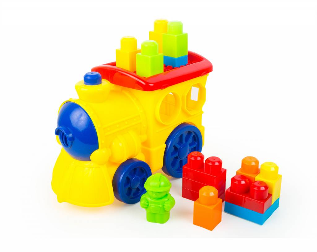 3T Rail Products Lil Engine Recycled Plastic Block Train Set