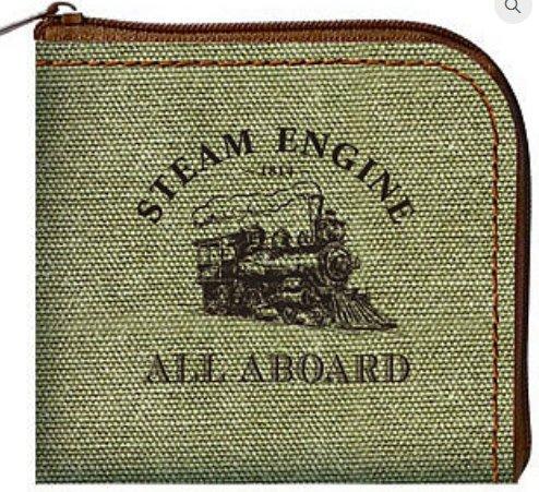 3T Rail Products Steam Train Coin Purse