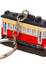 Resin Trolley Keychain
