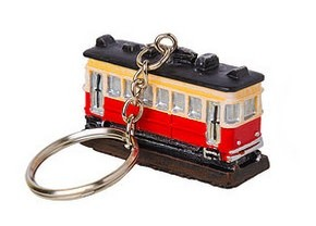 3T Rail Products Resin Trolley Keychain