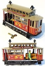 Tin Toy Arcade San Francisco Cable Car Wind-Up Toy - Discontinued