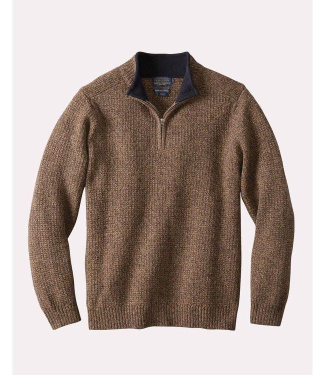Pendleton M's Shetland Quater-Zip Pullover
