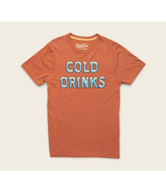Howler Bros Cold Drinks T-Shirt-Rust