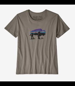 Patagonia W's Fitz Roy Bison Organic Crew T-Shirt