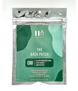 The Healthy Market 30mg Hemp Extract Back Patch Topical