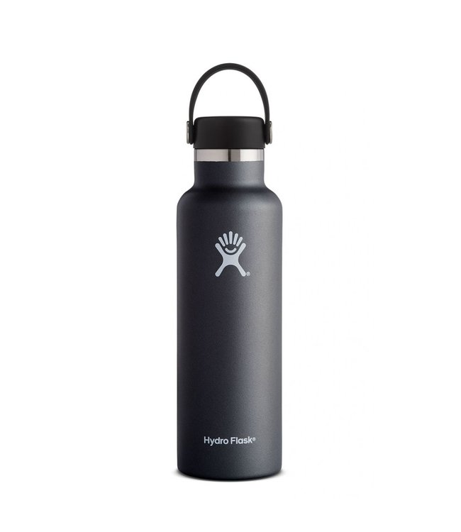 Hydro Flask Hydroflask Standard Mouth w/ Flex Cap, Black, 21 oz