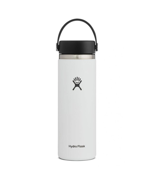Hydro Flask Hydroflask Wide Mouth w/ Flex Cap, White, 20 oz