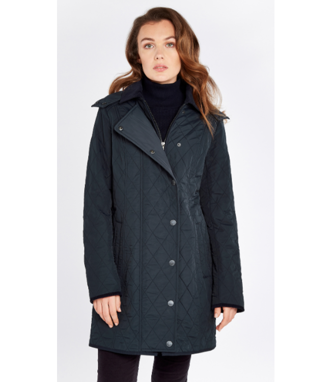 Dubarry W's Jamestown Long Quilted Jacket