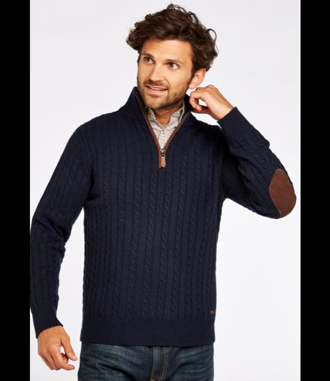 Dubarry M's Thompson Zip-Neck Cable Stitch Sweater