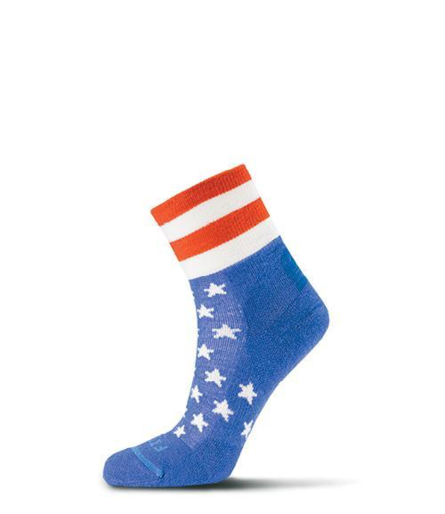 Fits Performance Trail (Stars & Bars) Quarter Sock