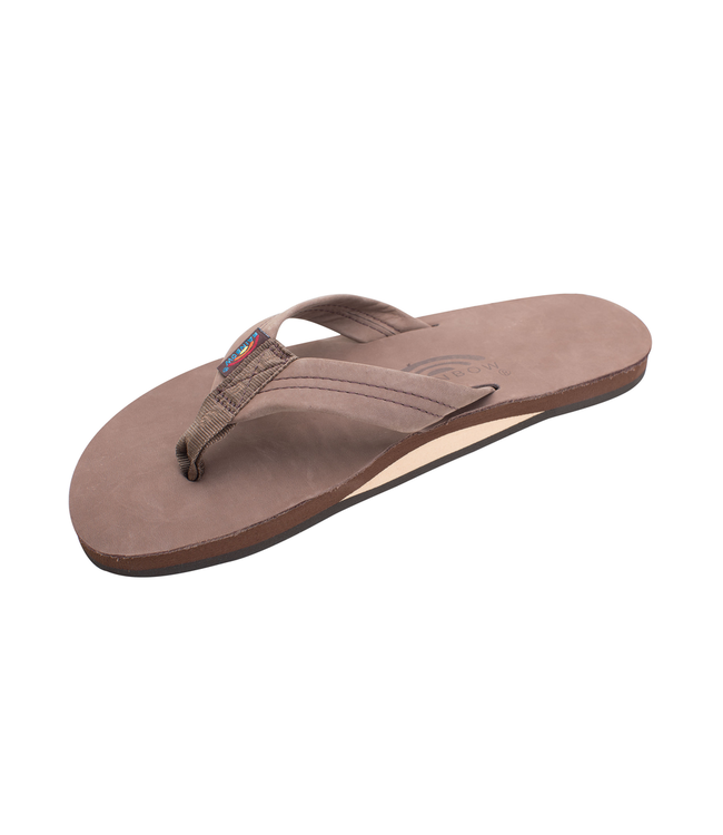 Rainbow Sandals M's Single Layer Premier Leather w/Arch Support