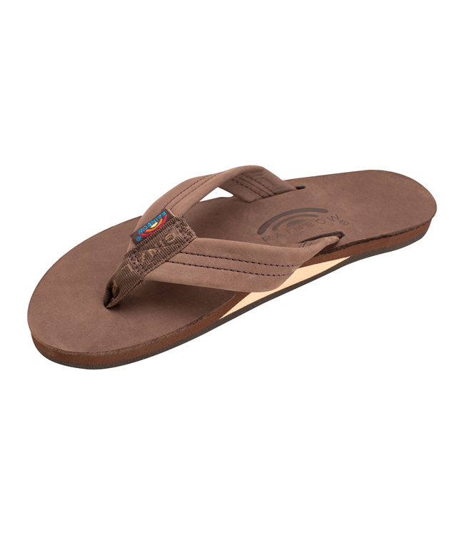 Rainbow Sandals W's Single Layer Premier Leather w/Arch Support