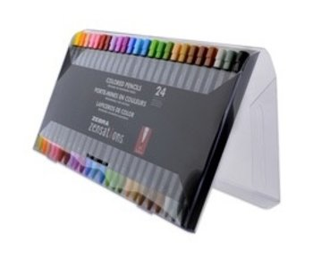 ZENSATIONS COLORED PENCILS 24 SET
