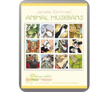 POMEGRANATE ARTPIECE PUZZLE 100 PIECE: ANIMAL MUSICIANS