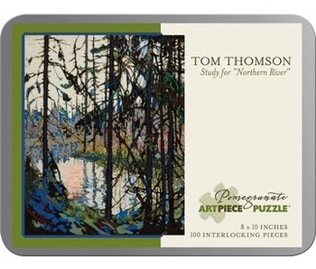POMEGRANATE POMEGRANATE ARTPIECE PUZZLE 100 PIECE: TOM THOMPSON STUDY FOR NORTHERN RIVER