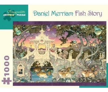 POMEGRANATE POMEGRANATE ARTPIECE PUZZLE 1000 PIECE: DANIEL MERRIAM FISH STORY