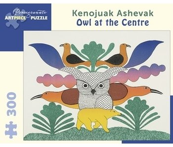 POMEGRANATE ARTPIECE PUZZLE 300 PIECE: OWL AT THE CENTRE