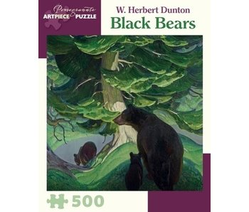 POMEGRANATE ARTPIECE PUZZLE 500 PIECE: BLACK BEARS