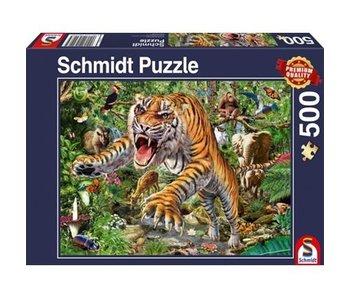 SCHMIDT PUZZLE 500: TIGER ATTACK