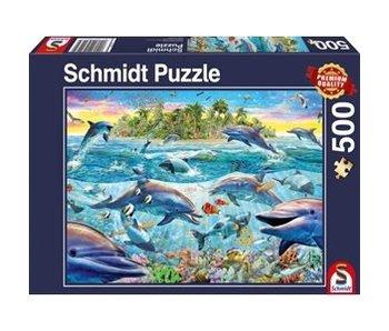 SCHMIDT PUZZLE 500: DOLPHIN REEF