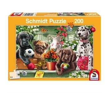 SCHMIDT PUZZLE 200: PLAYFUL PUPPIES