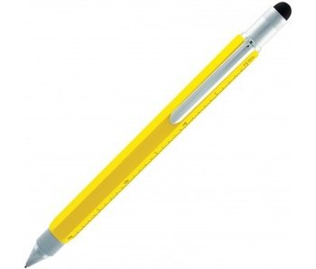 MONTEVERDE MECHANICAL PENCIL 0.9MM YELLOW ONE TOUCH STYLUS TOOL