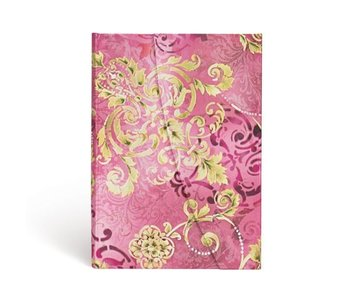 PAPERBLANKS JOURNAL POLISHED PEARL MIDI WRAP LINED