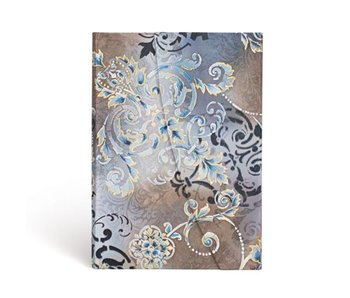 PAPERBLANKS JOURNAL GOSSAMER GREY MIDI WRAP LINED