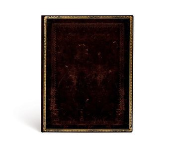 PAPERBLANKS JOURNAL FLEXIS OLD LEATHER BLACK MOROCCAN LINED