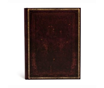 PAPERBLANKS JOURNAL 8x12 UNLINED HC OLD LEATHER BLACK MOROCCAN