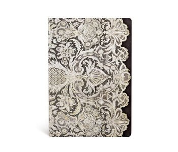 PAPERBLANKS JOURNAL 6.5x9 UNLINED HC LACE ALLURE IVORY VEIL