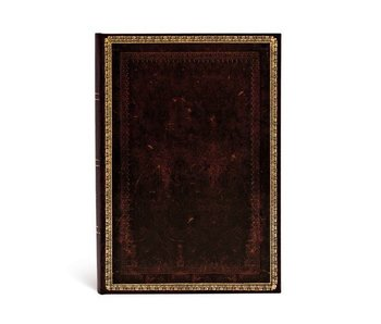 PAPERBLANKS JOURNAL 5x7 UNLINED HC OLD LEATHER BLACK MOROCCAN