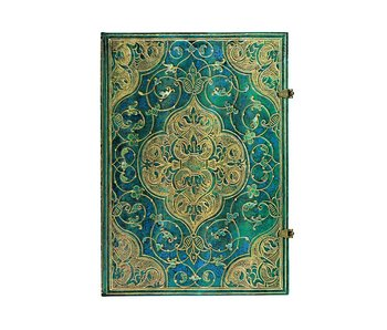PAPERBLANK JOURNAL TURQUOISE CHRONICLES GRANDE UNLINED