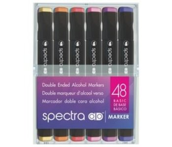 SPECTRA SPECTRA DOUBLE ENDED ALCOHOL MARKER 48 SET