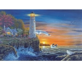 ROYAL & LANGNICKEL PAINT BY NUMBER WATERSIDE LIGHTHOUSE