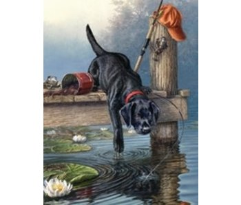 REEVES PAINT BY NUMBERS THE ARTIST COLLECTION BLACK LAB RIPPLES