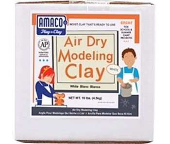AMACO AIR DRY CLAY 25LB WHITE *extra shipping charges apply