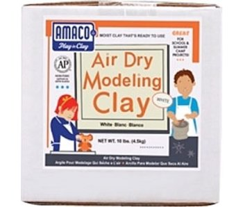 AMACO WHITE AIRDRY CLAY 10LB *extra shipping charges apply