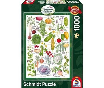 SCHMIDT PUZZLE 1000: THE COUNTRYSIDE COLLECTION - VEGETABLE GARDEN