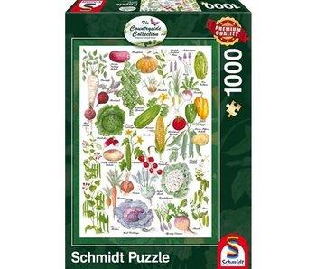 SCHMIDT SCHMIDT PUZZLE 1000: THE COUNTRYSIDE COLLECTION - VEGETABLE GARDEN