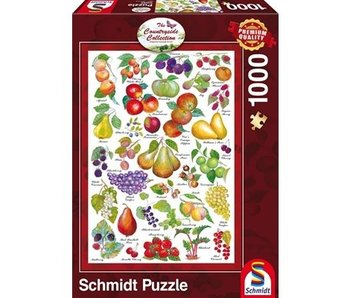 SCHMIDT SCHMIDT PUZZLE 1000: THE COUNTRYSIDE COLLECTION - FRUITS