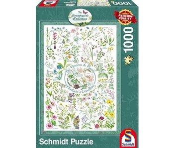 SCHMIDT SCHMIDT PUZZLE 1000: THE COUNTRYSIDE COLLECTION - FLOWERS & PLANTS