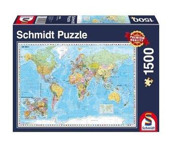 SCHMIDT SCHMIDT PUZZLE 1500: THE WORLD
