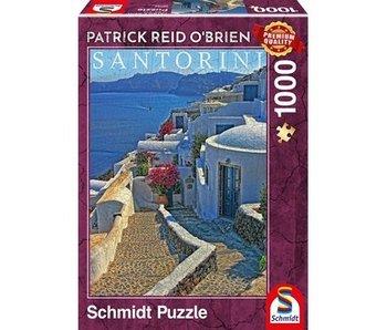 SCHMIDT PUZZLE 1000: SANTORIN, PATRICK REID O'BRIEN